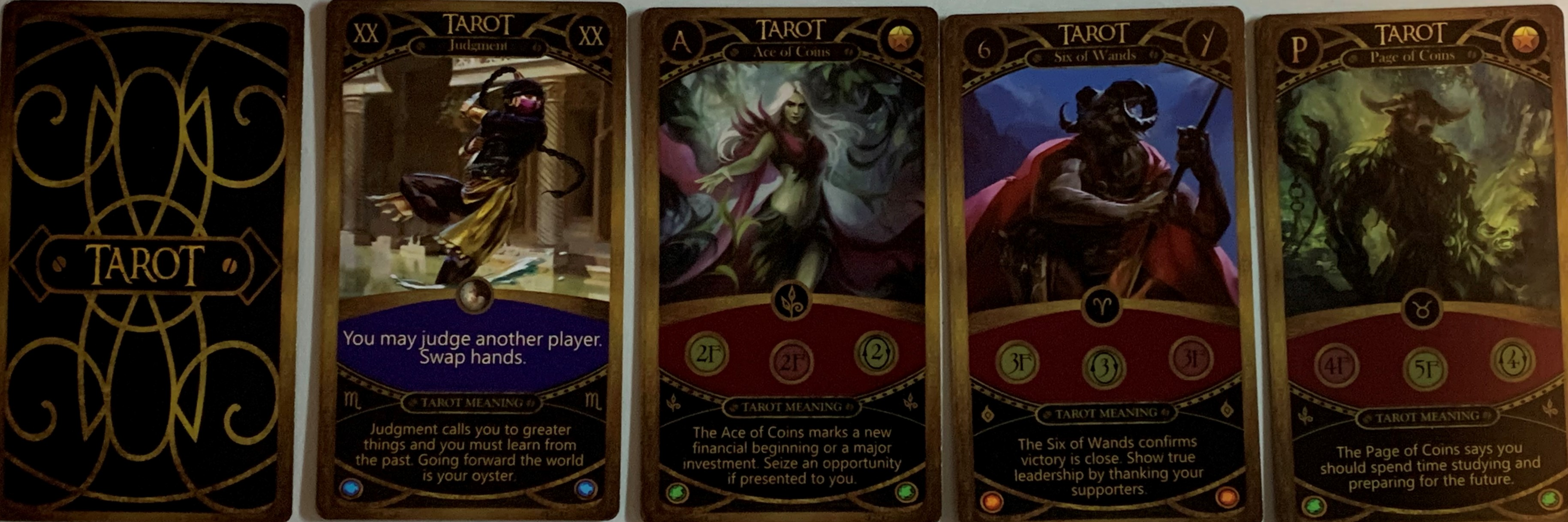 Zodiac War Tarot Cards